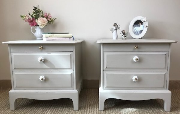 SOLD - A Pair of Vintage Stag Bedside Tables